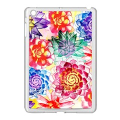 Colorful Succulents Apple iPad Mini Case (White)