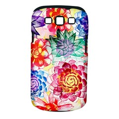 Colorful Succulents Samsung Galaxy S III Classic Hardshell Case (PC+Silicone)