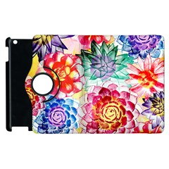 Colorful Succulents Apple iPad 2 Flip 360 Case