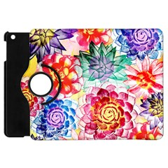 Colorful Succulents Apple iPad Mini Flip 360 Case