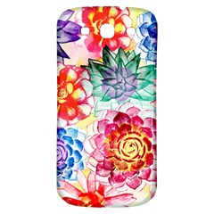 Colorful Succulents Samsung Galaxy S3 S III Classic Hardshell Back Case