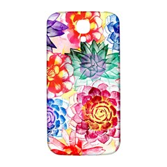 Colorful Succulents Samsung Galaxy S4 I9500/i9505  Hardshell Back Case by DanaeStudio