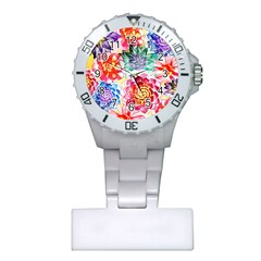 Colorful Succulents Plastic Nurses Watch