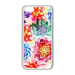 Colorful Succulents Apple iPhone 5C Seamless Case (White)