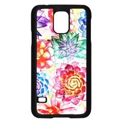 Colorful Succulents Samsung Galaxy S5 Case (Black)