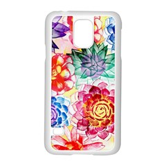 Colorful Succulents Samsung Galaxy S5 Case (White)