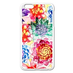 Colorful Succulents Apple iPhone 6 Plus/6S Plus Enamel White Case