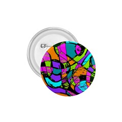 Abstract Sketch Art Squiggly Loops Multicolored 1 75  Buttons by EDDArt