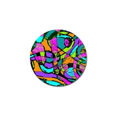 Abstract Sketch Art Squiggly Loops Multicolored Golf Ball Marker (4 Pack) by EDDArt