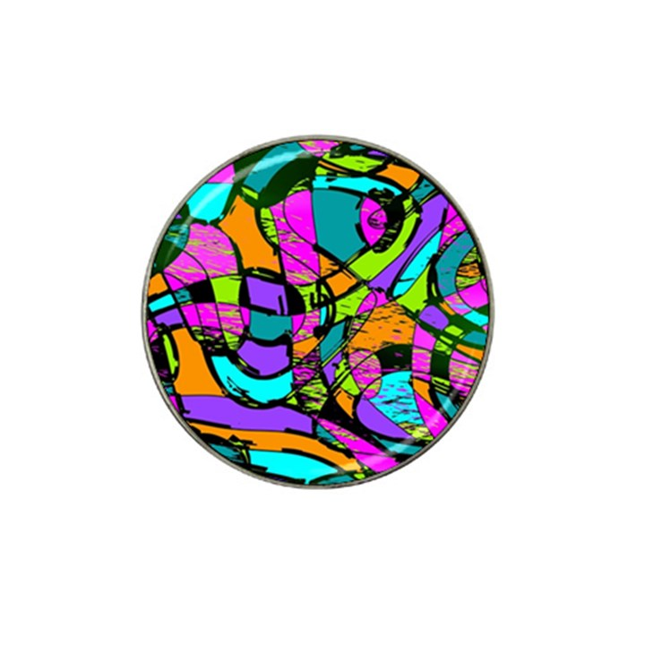 Abstract Sketch Art Squiggly Loops Multicolored Hat Clip Ball Marker