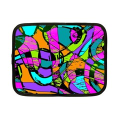 Abstract Sketch Art Squiggly Loops Multicolored Netbook Case (small)  by EDDArt