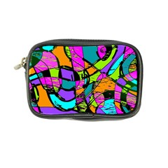 Abstract Sketch Art Squiggly Loops Multicolored Coin Purse by EDDArt