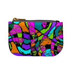 Abstract Sketch Art Squiggly Loops Multicolored Mini Coin Purses by EDDArt