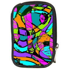 Abstract Sketch Art Squiggly Loops Multicolored Compact Camera Cases by EDDArt