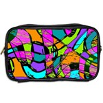 Abstract Sketch Art Squiggly Loops Multicolored Toiletries Bags 2-Side Back