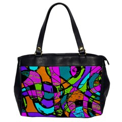 Abstract Sketch Art Squiggly Loops Multicolored Office Handbags
