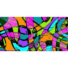 Abstract Sketch Art Squiggly Loops Multicolored You Are Invited 3d Greeting Card (8x4) by EDDArt
