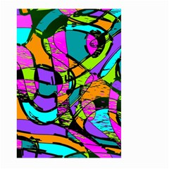 Abstract Sketch Art Squiggly Loops Multicolored Large Garden Flag (two Sides) by EDDArt