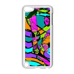 Abstract Sketch Art Squiggly Loops Multicolored Apple Ipod Touch 5 Case (white)