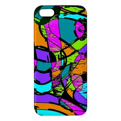 Abstract Sketch Art Squiggly Loops Multicolored Apple Iphone 5 Premium Hardshell Case by EDDArt