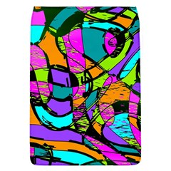 Abstract Sketch Art Squiggly Loops Multicolored Flap Covers (l)  by EDDArt