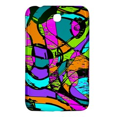 Abstract Sketch Art Squiggly Loops Multicolored Samsung Galaxy Tab 3 (7 ) P3200 Hardshell Case  by EDDArt