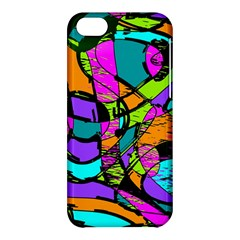 Abstract Sketch Art Squiggly Loops Multicolored Apple Iphone 5c Hardshell Case by EDDArt
