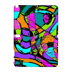 Abstract Sketch Art Squiggly Loops Multicolored Samsung Galaxy Note 10 1 (p600) Hardshell Case by EDDArt