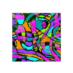 Abstract Sketch Art Squiggly Loops Multicolored Satin Bandana Scarf by EDDArt