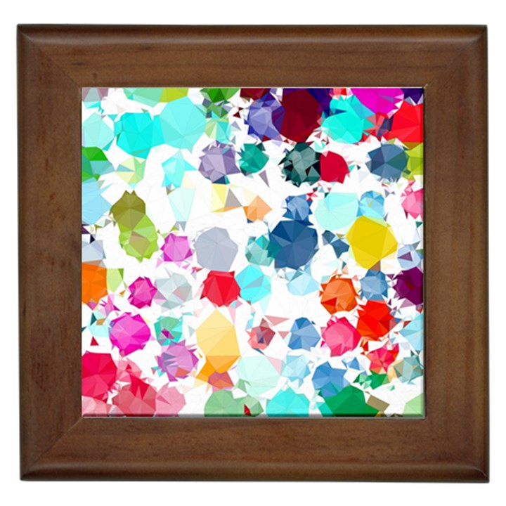 Colorful Diamonds Dream Framed Tiles