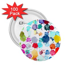 Colorful Diamonds Dream 2.25  Buttons (100 pack)