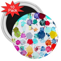 Colorful Diamonds Dream 3  Magnets (10 pack)