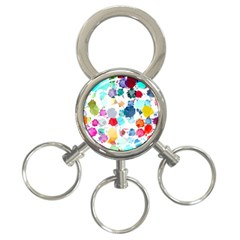 Colorful Diamonds Dream 3-Ring Key Chains