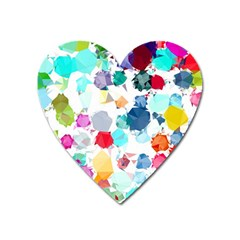 Colorful Diamonds Dream Heart Magnet