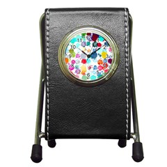 Colorful Diamonds Dream Pen Holder Desk Clocks