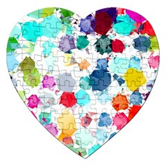Colorful Diamonds Dream Jigsaw Puzzle (heart) by DanaeStudio