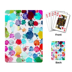 Colorful Diamonds Dream Playing Card