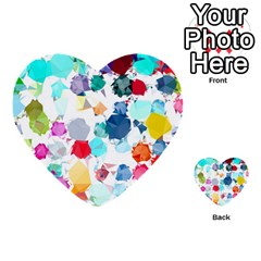 Colorful Diamonds Dream Multi Purpose Cards (heart)  by DanaeStudio