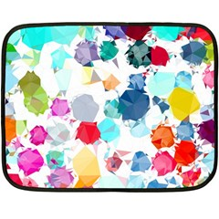 Colorful Diamonds Dream Double Sided Fleece Blanket (mini)  by DanaeStudio