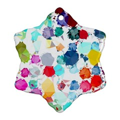 Colorful Diamonds Dream Snowflake Ornament (2-Side)