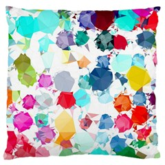 Colorful Diamonds Dream Large Cushion Case (one Side) by DanaeStudio