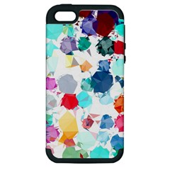 Colorful Diamonds Dream Apple iPhone 5 Hardshell Case (PC+Silicone)