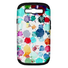 Colorful Diamonds Dream Samsung Galaxy S Iii Hardshell Case (pc+silicone) by DanaeStudio