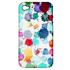 Colorful Diamonds Dream Apple iPhone 4/4S Hardshell Case (PC+Silicone)