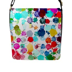 Colorful Diamonds Dream Flap Messenger Bag (L)