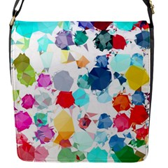 Colorful Diamonds Dream Flap Messenger Bag (S)