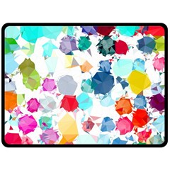 Colorful Diamonds Dream Double Sided Fleece Blanket (Large)