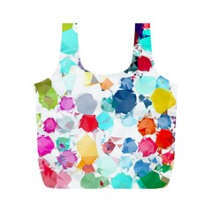 Colorful Diamonds Dream Full Print Recycle Bags (M)