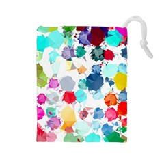 Colorful Diamonds Dream Drawstring Pouches (Large)
