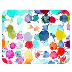 Colorful Diamonds Dream Double Sided Flano Blanket (Medium)